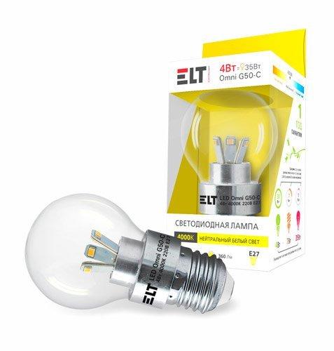 Светодиодная (LED) лампа ELT LED Omni G50-C 4W E27 4000
