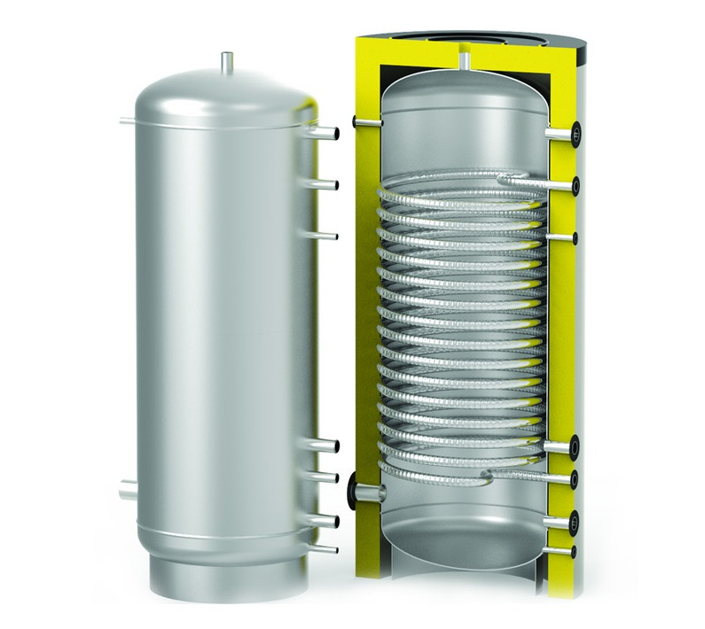 Бойлер косвенного нагрева для проточного нагрева ГВС через змеевик S-Tank HFWT-1500