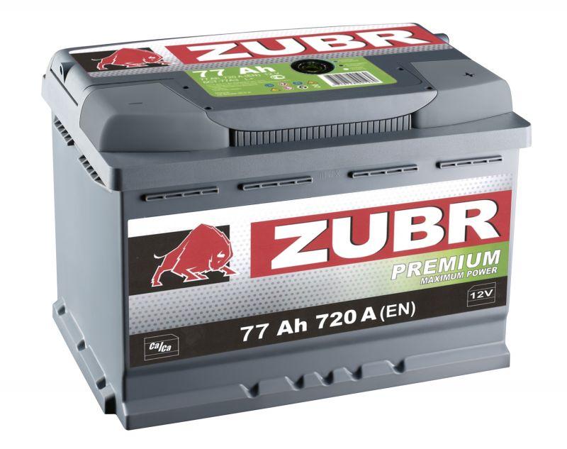 Аккумуляторная батарея ZUBR Premium 77 R+