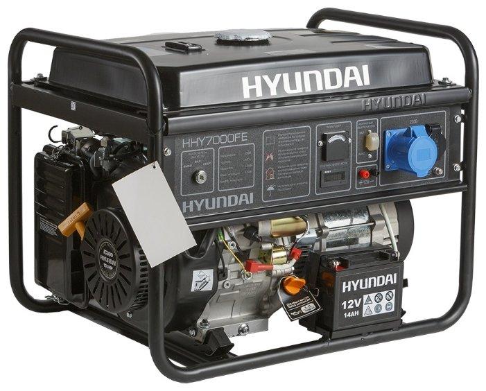 Однофазный бензиновый генератор Hyundai HHY7000FE