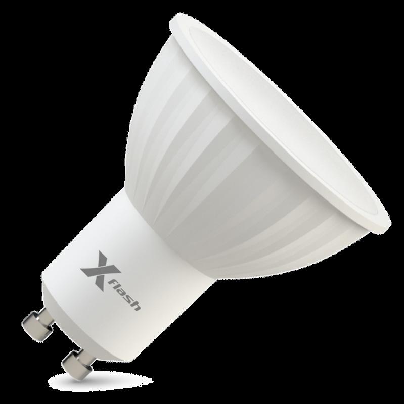 Светодиодная (LED) лампа X-Flash Spotlight MR16 P GU10 4W(4вт),желтый свет 3000K,световой поток 300лм, 220V(в) (46089)