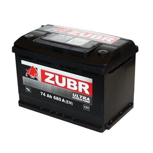 Аккумуляторная батарея ZUBR Ultra 74 R+