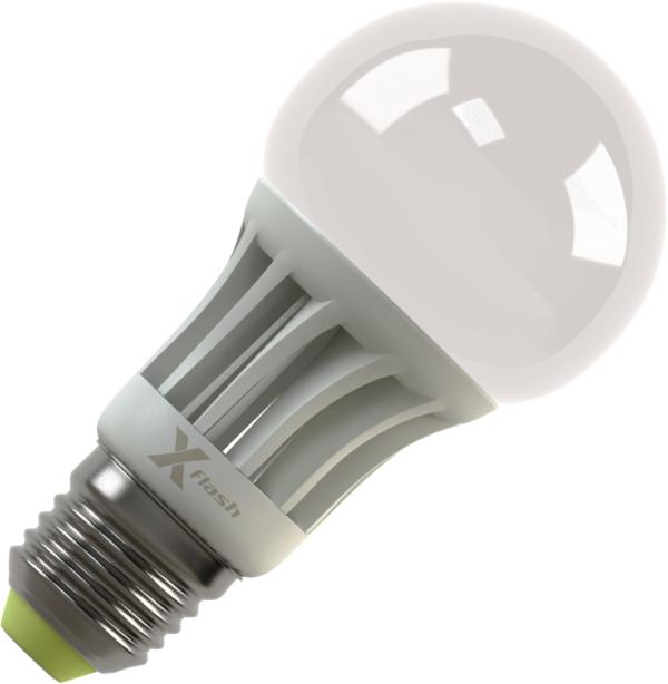 Светодиодная (LED) лампа X-Flash Globe E27 8W(8вт),желтый свет 3000K,световой поток 700лм,220в (42968)