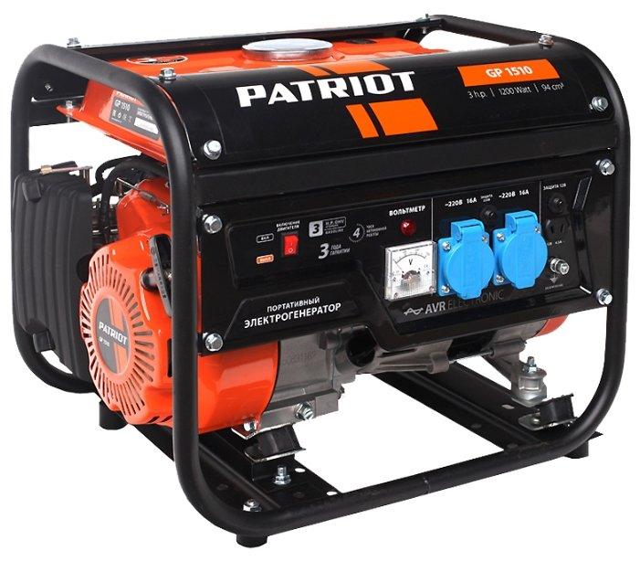 Однофазный бензиновый генератор PATRIOT GP 1510