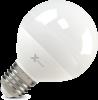 Светодиодная (LED) лампа X-Flash Globe E27 G70 P 8W(8вт),желтый свет 3000K,световой поток 650лм, 220V(в) (45808)