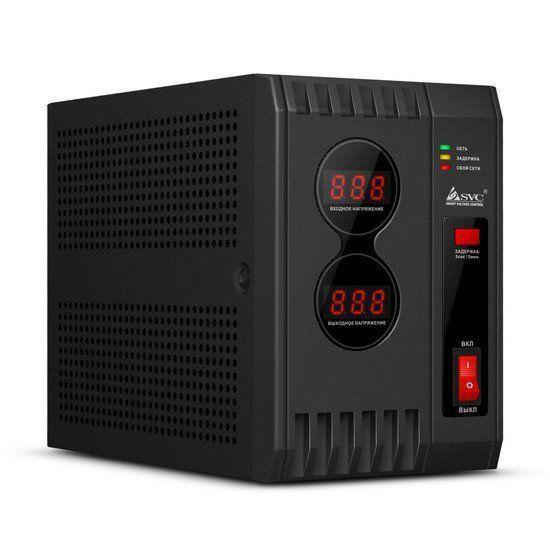 Стабилизатор SVC AVR-2000, 2000ВА / 2000Вт, 220В, 50 Гц, чёрный, 205*108*157.5 мм