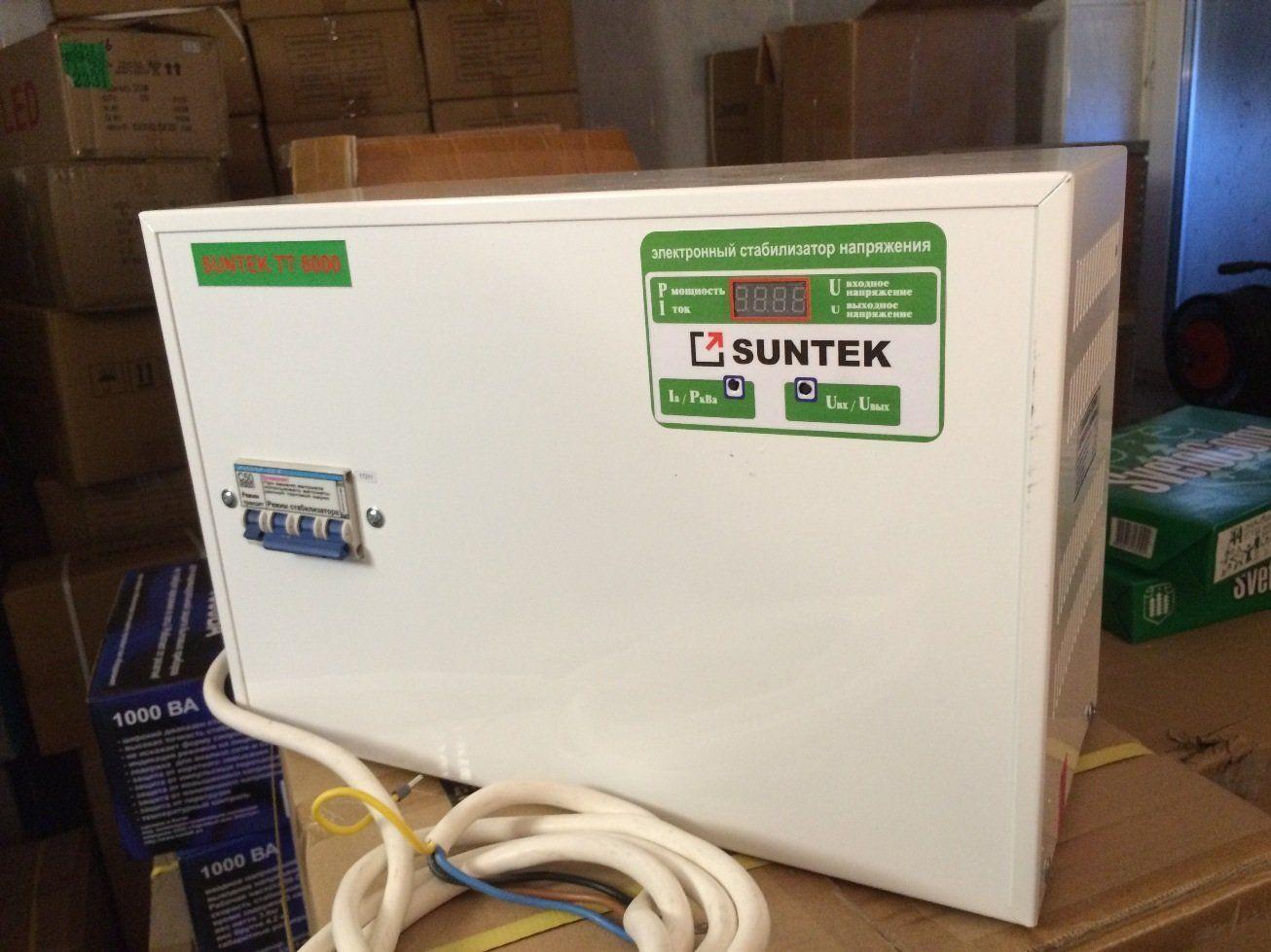Стабилизатор напряжения тиристорный (симисторный) SUNTEK ТТ 8000 ВА 130-270 Вольт