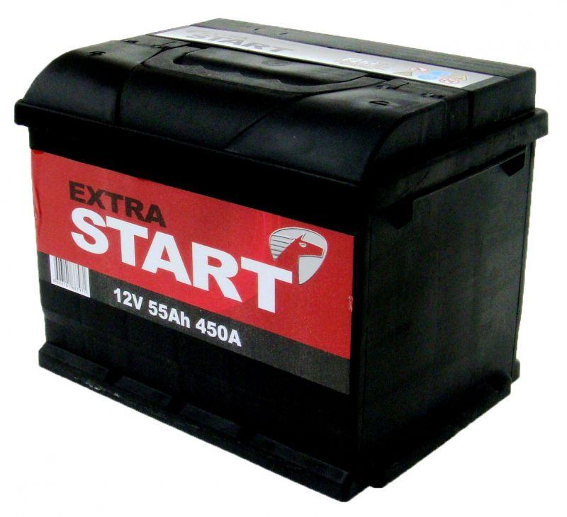 Аккумуляторная батарея Extra Start 55 6СТ-55N L+ (L2)
