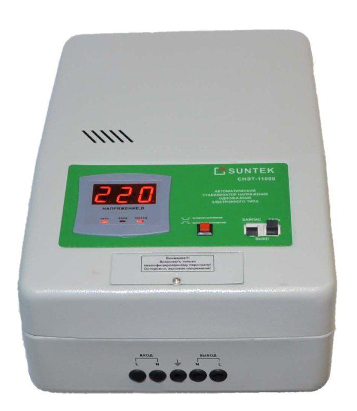 Релейный стабилизатор напряжения SUNTEK 11000 ВА