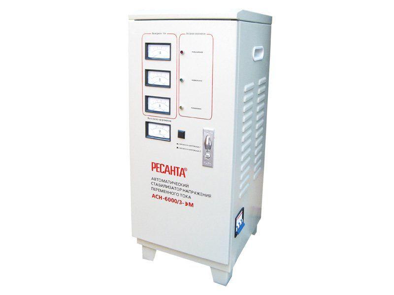 Трехфазный стабилизатор  напряжения Ресанта ACH-6000 /3 ЭМ