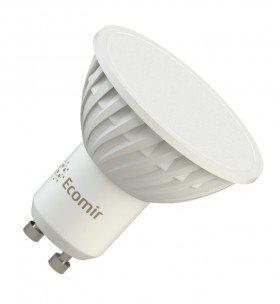 Светодиодная (LED) лампа Ecomir 4W(4вт), GU10, 220V, желтый свет 3000к, световой поток 300лм  (43378)