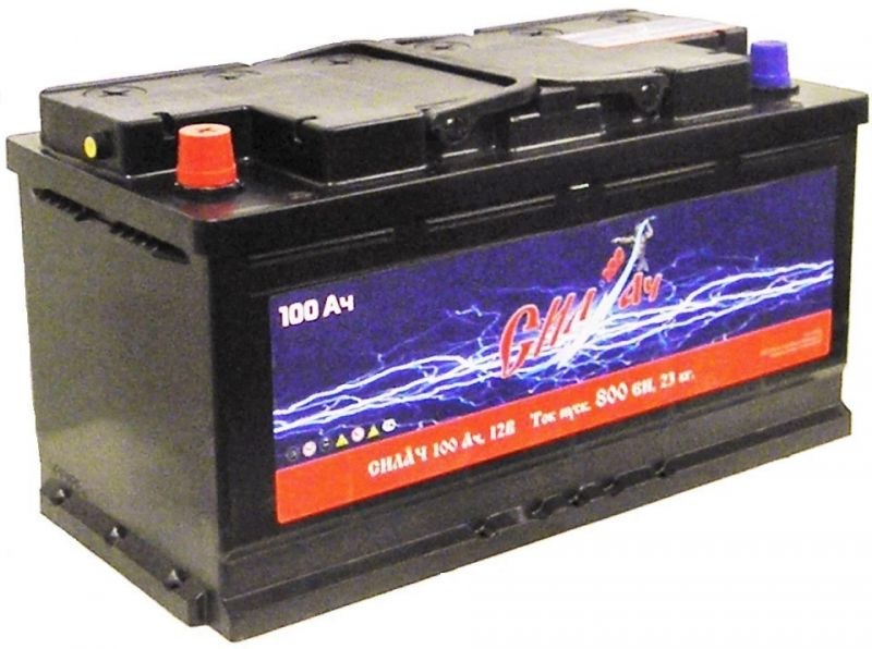 Аккумуляторная батарея Силач СИЛ 100Ач EN800А о.п. (353х175х190, B13)
