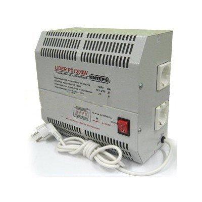 Однофазный стабилизатор напряжения LIDER PS 1200 W-50