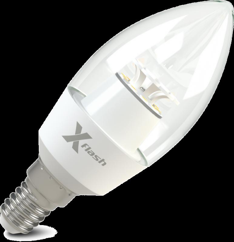 Светодиодная (LED) лампа X-Flash Candle E14 CF 6.5W(6.5вт),белый свет 4000K,световой поток 520лм, 220V(в) (45969)