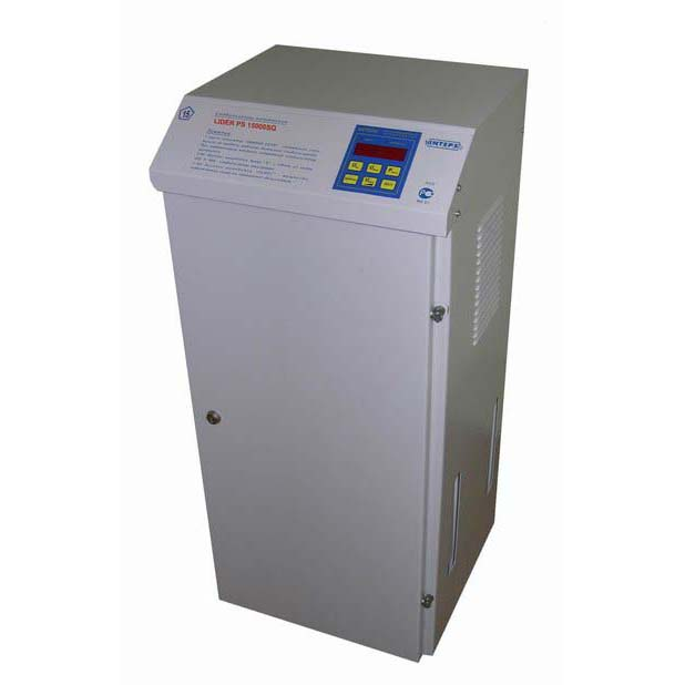 Однофазный стабилизатор напряжения LIDER PS 20000 SQ-D-25 21 кВа (135-290)