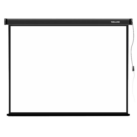 Проекционный экран, Deluxe, DLS-E305-229, Моторизированный, 305x229, Matt white, Чёрный