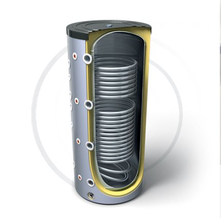Буферная емкость для нагревательной установки с двумя теплообменниками TESY V 15S/9 S2 2000 130 F48 P6