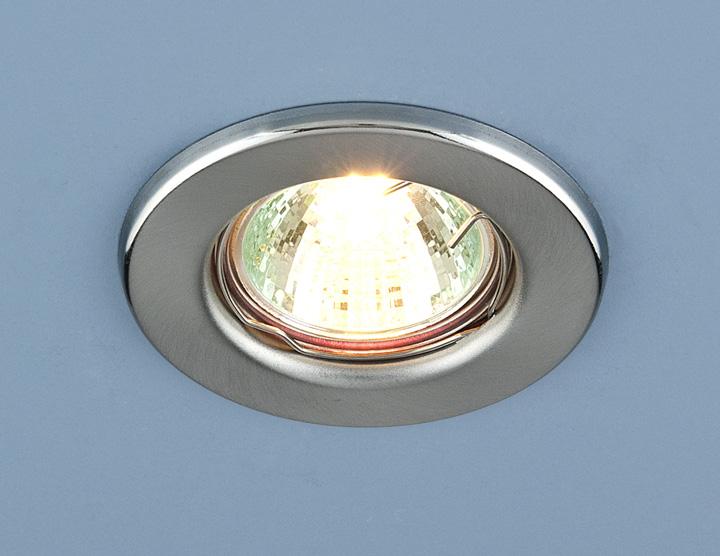Точечный светильник Elektrostandard 9210 MR16 SCH хром сатинированный
