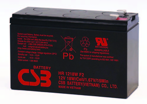 Аккумуляторная батарея CSB HR 1218 W